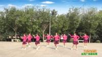 陕西华阴罗敷明星舞蹈队广场舞 【又见山里红】 表演 团队版
