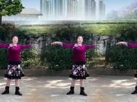 武汉嘉伦舞蹈队《蓝色天梦》编舞雨夜 正背面演示