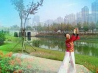 三里舞姿广场舞《小河淌水》编舞饶子龙 正面教学演示