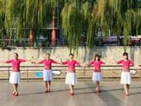 长兴轻纺城广场舞《舍不得》编舞雨夜 团队正背面演示