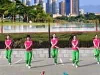 蝴蝶恋人广场舞《舞动快乐》原创动感健身舞 附口令分解动作教学演示