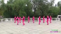 郑州市俏妈妈舞蹈队一队广场舞《九九女儿红》原创舞蹈 团队正背面演示