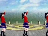 太湖一莲广场舞《水蓝蓝》原创32步水兵舞 正背面演示及慢速口令教学