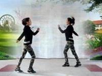 山西琳儿广场舞《情路弯弯》原创鬼步对跳 正背面演示