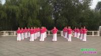 郑州市市玫瑰金舞蹈队四队广场舞《撸起袖子加油干》表演 团队版