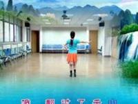 清盈百合广场舞《我的九寨-情歌赛过春江》原创串烧舞 口令分解动作教学