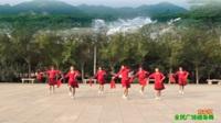 陕西华阴罗敷小星星舞蹈队广场舞 【东方红】 表演 团队版