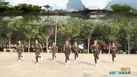 陕西华阴姚田妹子美美哒舞蹈队广场舞 【歌在飞】 表演 团队版