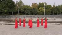 红旗广场舞蹈队广场舞《今夜的你又在和谁约会》原创舞蹈 正背面表演 团队版