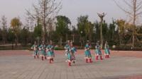 中牟世纪广场舞蹈队广场舞 雪山姑娘 表演 团队版