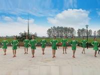 江西芳妃广场舞队广场舞《醉美草原》原创舞蹈 正背表演 团队版