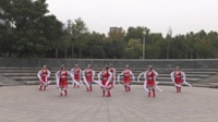 郑州艳阳天舞蹈队广场舞《美丽的雪山姑娘》原创舞蹈 正背面表演 团队版