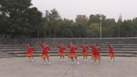 晚秋舞蹈队广场舞《火火的情歌》原创舞蹈 团队正背面演示