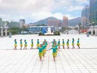 胖美人胖妞舞蹈队广场舞《水晶》原创排练版 表演 团队版
