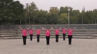火车头五站舞蹈队广场舞《美丽中国》原创舞蹈 团队正背面演示