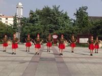 泰安天平社区舞蹈队广场舞《水月亮》原创舞蹈 表演 团队版