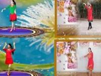简画广场舞《秋天的风》原创微信群姐妹合屏