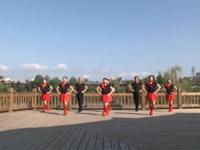 湖北麻城万家堰长江丽都舞蹈三队广场舞  新龙船调 表演 团队版
