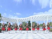 湖南郴州珍儿姐妹广场舞队广场舞 女兵走在大街上 表演 团队版