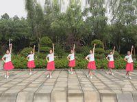 江西江财飞悦之相约春天广场舞《从前》原创舞蹈 正背表演与动作分解 团队版