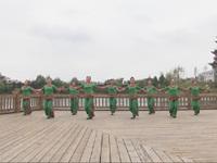 湖北麻城海旬新村舞蹈队广场舞  绣金匾 表演 团队版