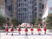 杨市芒果舞蹈队广场舞 浏阳河 表演 团队版