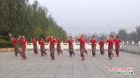 河南省项城市舞动旋律2012健身队广场舞  那里的山那里的水 表演 团队版
