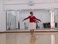 千江飞雪广场舞《月满西楼》编舞秦来财 形体芭蕾 正背面演示