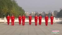 河南省项城市富民路舞蹈队广场舞  又见山里红 表演 团队版