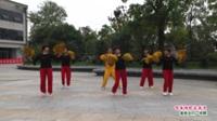 河南省信阳市潢川县育旗健身舞蹈队广场舞  唱着情歌流着泪 表演 团队版
