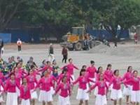 柳州队参加舞动时代艺术节开场舞《我和我的祖国》原创舞蹈 正背面演示