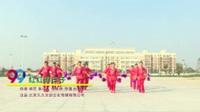 人生如梦开心广场舞 红红的日子 表演 团队版