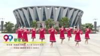 白洲健身舞蹈队广场舞 歌在飞 表演 团队版