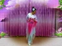 杨桥天真姐妹广场舞《月雨绵绵》编舞饶子龙 正背面演示