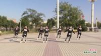 河南省郸城县红颜鬼步舞队广场舞 歌在飞 表演 团队版