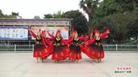 河南省信阳市商城县易易广场舞队广场舞  欢乐的跳吧 表演 团队版