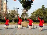 雨中阳光广场舞《花桥流水》原创简单32步健身舞 附口令分解动作教学演示