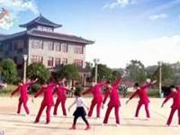 娟子广场舞《草原情》编舞青儿老师 团队版 正背面演示