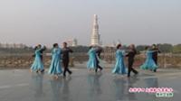 河南省周口市老干部活动中心舞蹈队广场舞  北京平四 大海航行靠舵手 表演 团队版