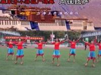 永城东方小游园广场舞《向往拉萨》原创舞蹈 正背面演示