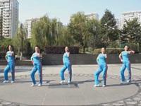 为舞疯狂广场舞《唱着情歌流着泪》原创舞蹈 正背面口令分解动作教学演示