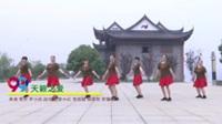 娄底冷江舞动快乐队广场舞 天籁之爱 表演 团队版