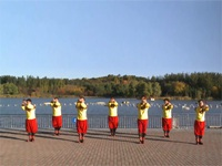 中国男子广场舞帅龙队广场舞 花儿为什么这样红 表演 团队版