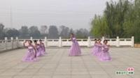 河南省项城市郑郭阳光舞蹈队广场舞  感谢 表演 团队版