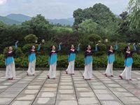 江西江财飞悦舞蹈队广场舞《熏香的月亮》正背表演与动作分解 团队版