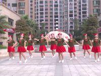 火车站快乐姐妹队广场舞《浏阳河》原创舞蹈 表演 团队版