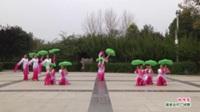 河南省淮阳县好心情舞蹈队广场舞  雨吻花 表演 团队版
