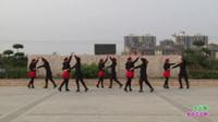 新乡县舞动青青舞蹈队广场舞 妹妹的山丹花 表演 团队版