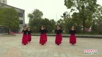 河南省信阳市潢川古月舞蹈队广场舞  忧伤华尔兹 表演 团队版