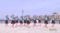 河南驻马店泌阳羽化广场舞队 心花开在草原上 表演 团队版
